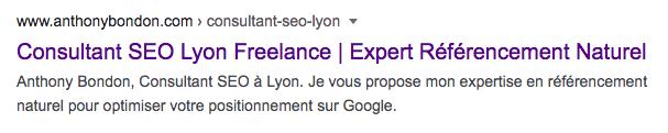 balise title serp google